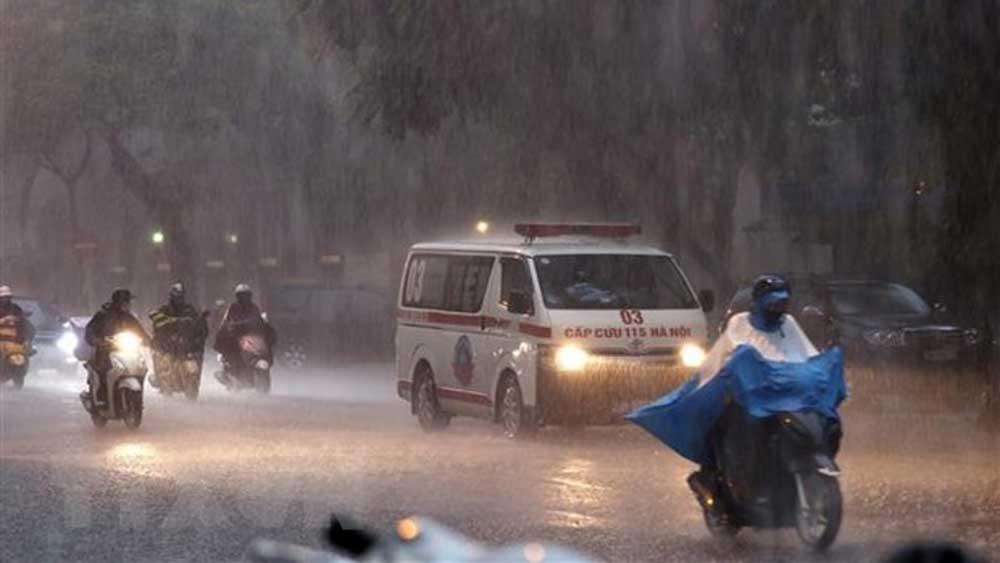 Bắc Bộ, mưa to, Trung Bộ, Tây Nguyên, Nam Bộ, ngày nắng