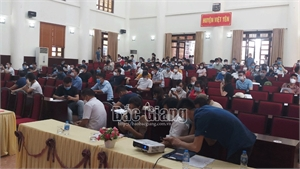 Đấu giá 30 lô đất ở tại Việt Yên, thu chênh lệch gần 33,5 tỷ đồng