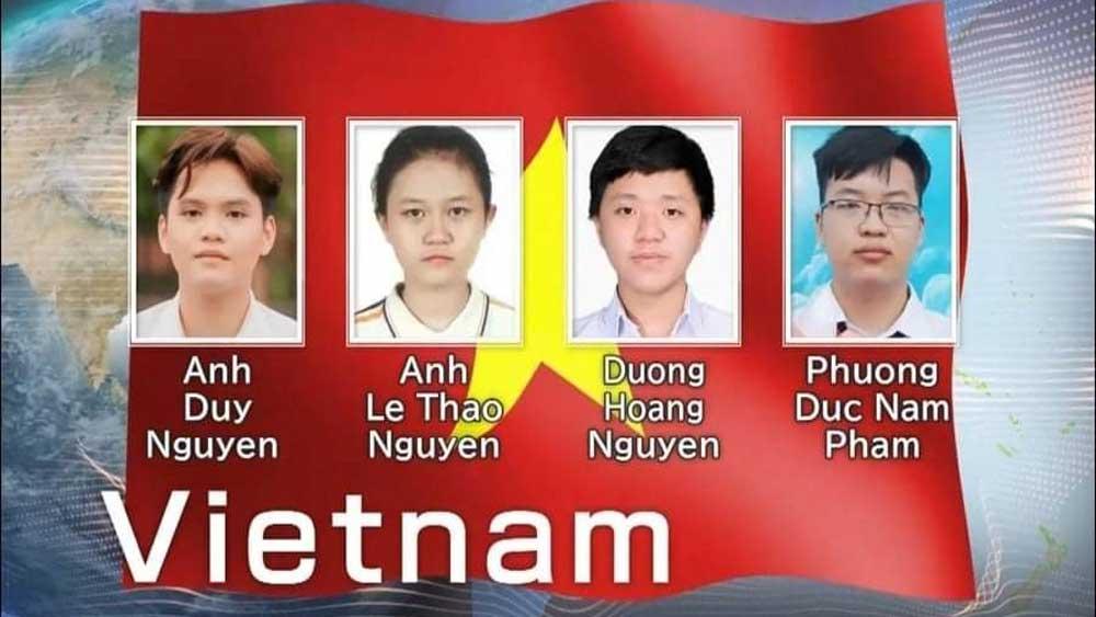 Việt Nam, 3 Huy chương Vàng, Olympic Hóa học quốc tế, năm 2021
