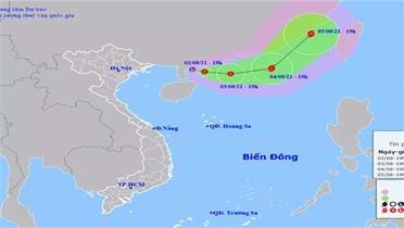 Áp thấp nhiệt đới di chuyển theo hướng Đông Đông Nam và có khả năng mạnh thêm