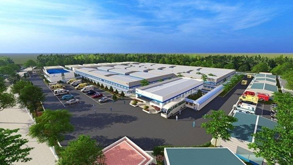 Covid-19 treatment hospital, set up in Hanoi, Covid-19 pandemic, medical facilities, 500-bed treatment hospital
