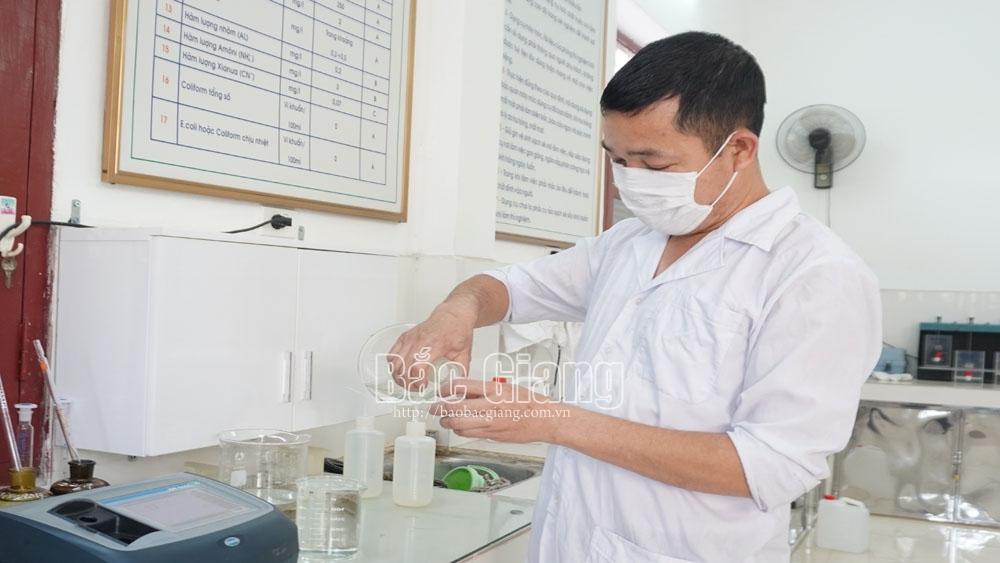 Nước sạch, Bắc Giang, dịch Covid-19