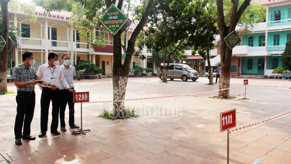 Bắc Giang, giáo dục, thi tốt nghiệp THPT, đợt 2, THPT Lục Ngạn số 1, THPT Lục Ngạn số 3, kiểm tra