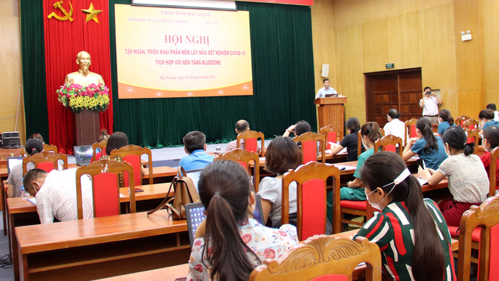 Bắc Giang, Sở Thông tin và Truyền thông, Covid-19, Bluezone, phần mềm
