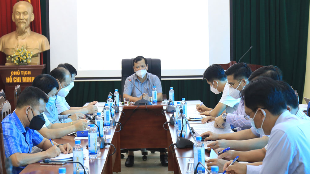 Bac Giang province, site work, Quang Chau industrial park, Vietnam - Korea industrial park, working session, progress of land clearance, project execution
