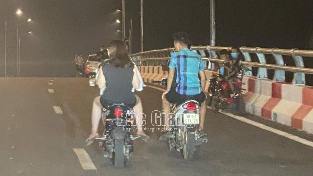 Bắc Giang, xử lý, thanh thiếu niên, tụ tập, mất an toàn giao thông, cầu Chũ, Lục Ngạn, công an