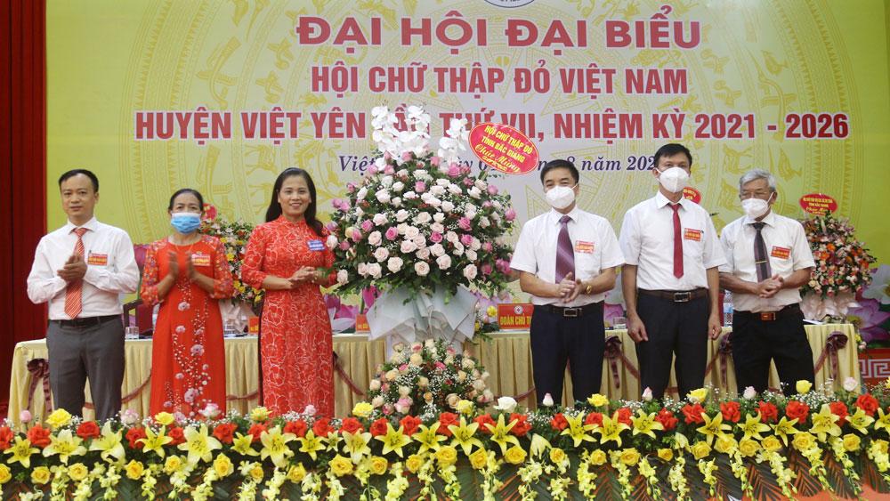 Hội Chữ thập đỏ huyện Việt Yên tổ chức Đại hội lần thứ VII, nhiệm kỳ 2021- 2026