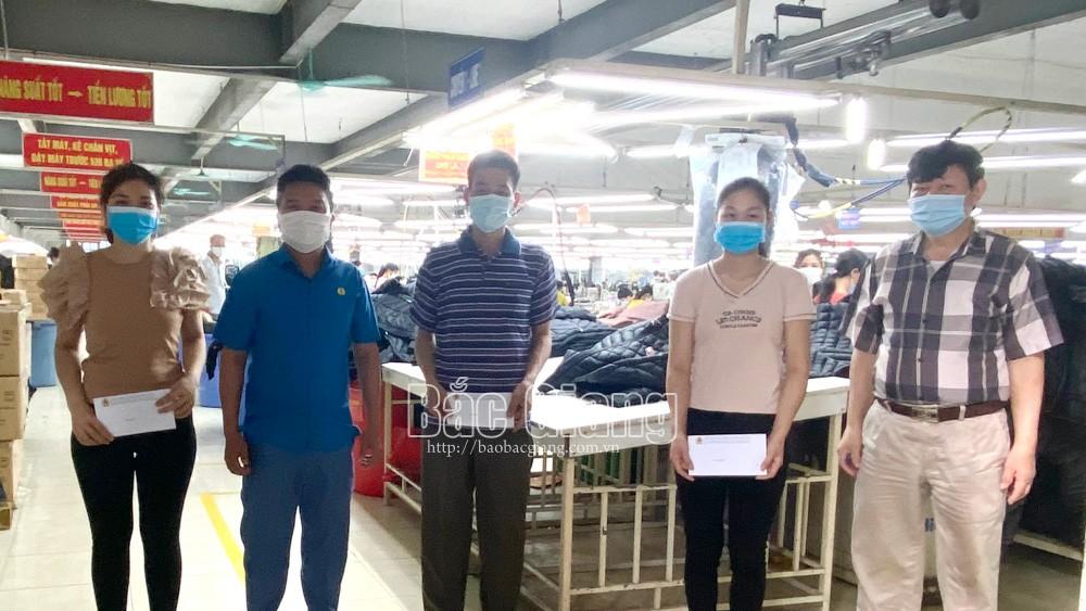 Bắc Giang, hỗ trợ công nhân, F0, F1, công đoàn, dịch bệnh.