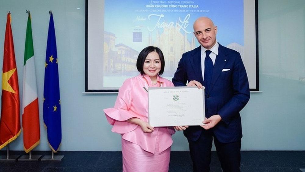 Vietnamese fashion designer, Italian culinary ambassador, Le Thi Quynh Trang, true taste project, Italian cuisine, fashion field
