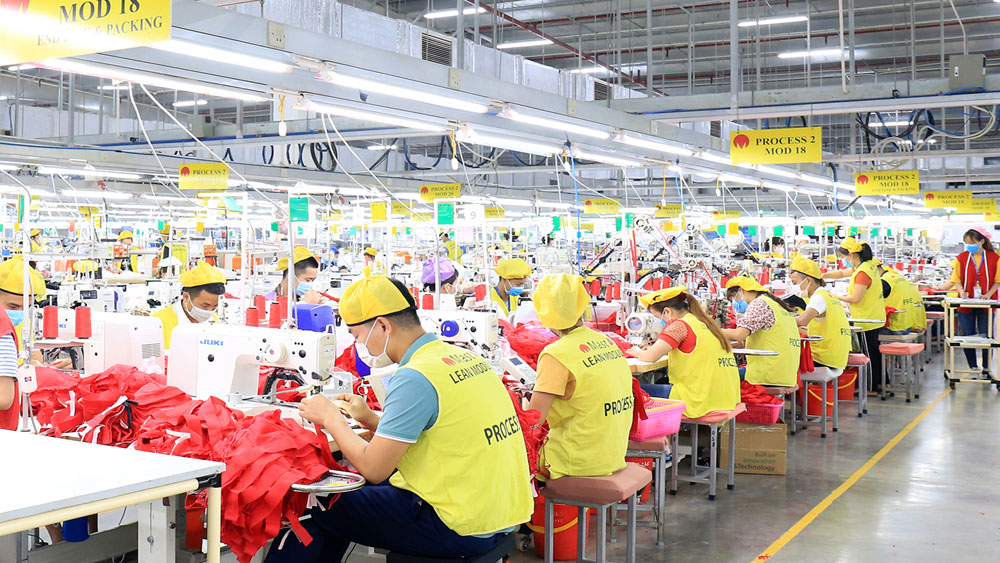 Bac Giang province, annual economic growth, efficiency of investment attraction, economic sectors, annual economic growth rate
