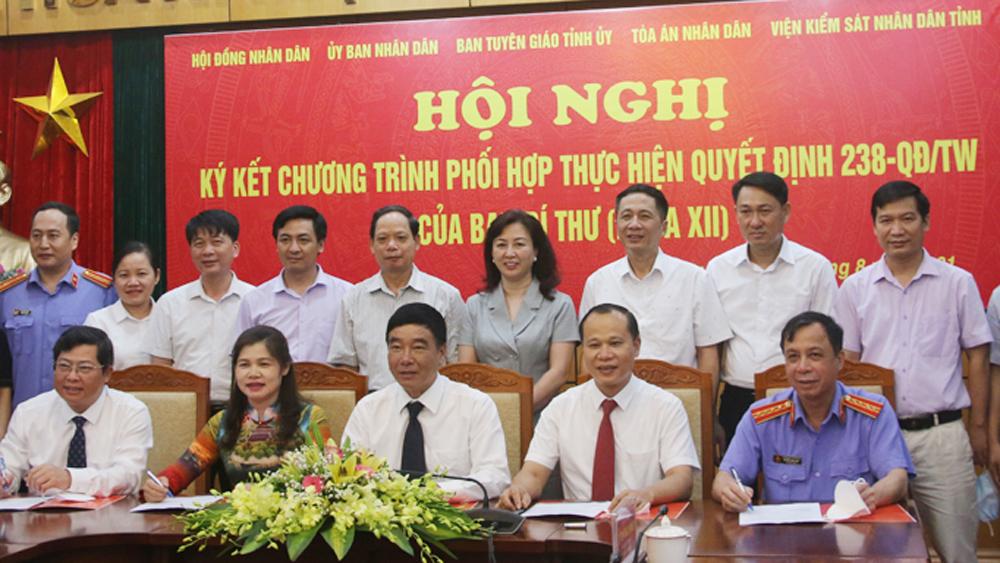 Bắc Giang; Ban Tuyên giáo; Ký kết; phối hợp