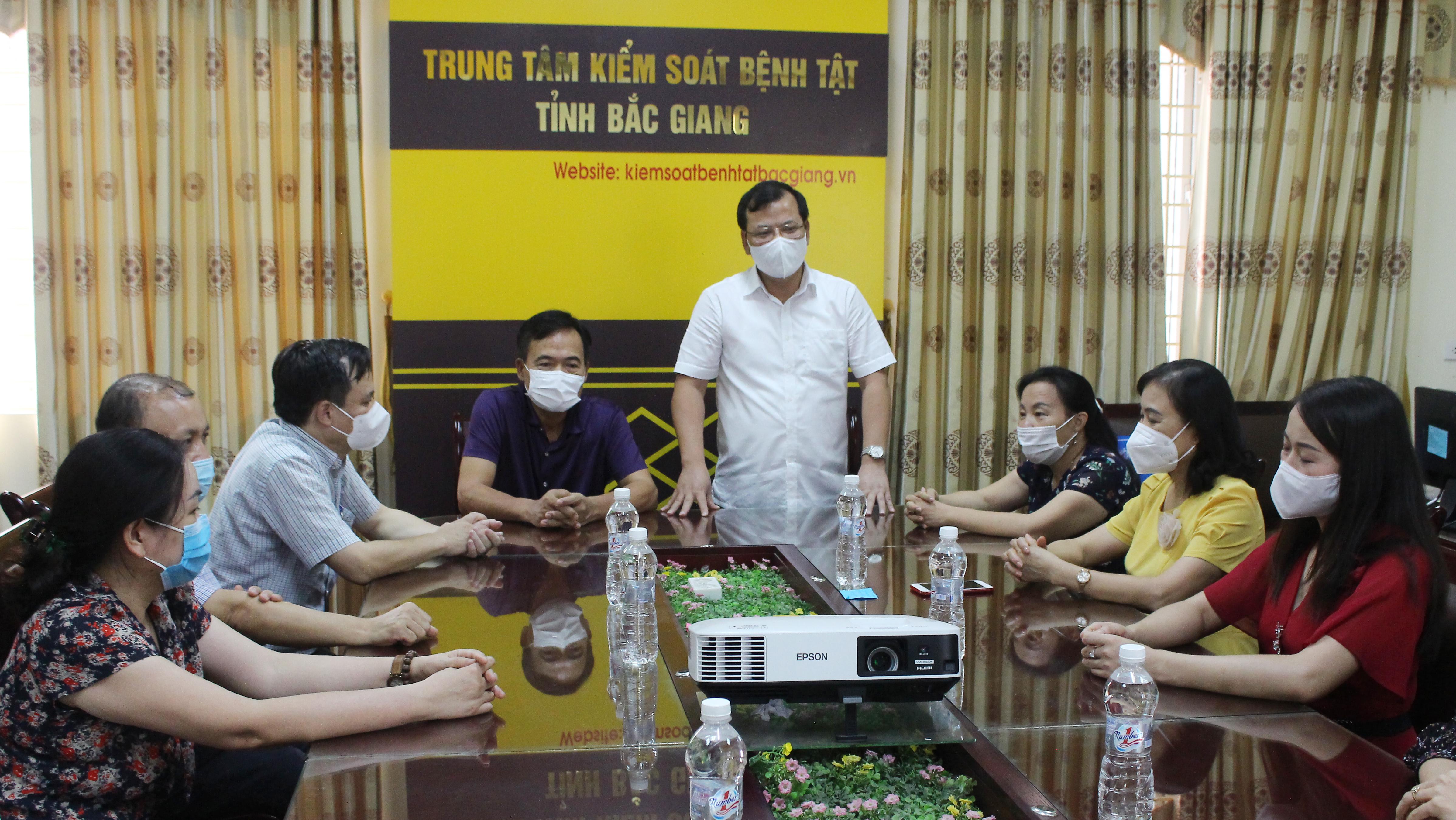 CDC tỉnh, thiết bị y tế, đồng chí Phan Thế Tuấn,  Trung tâm kiểm soát bệnh tật tỉnh Bắc Giang