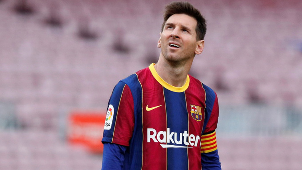 Messi rời Barca sau 21 năm gắn bó. Ảnh: Reuters