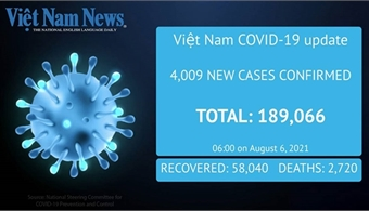 4,009 news cases announced on Friday morning