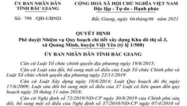 Huyện Việt Yên có thêm một khu đô thị