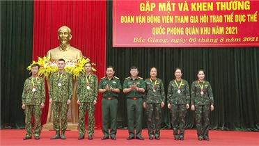 Bắc Giang giành giải Nhất toàn đoàn tại Hội thao TDTT Quân khu 1