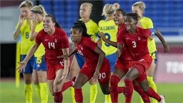 Canada lần đầu đoạt HCV bóng đá nữ Olympic