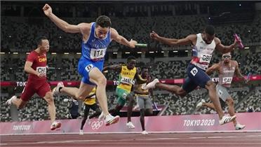 Khác biệt 1% giây giúp Italy giành HCV 4x100m