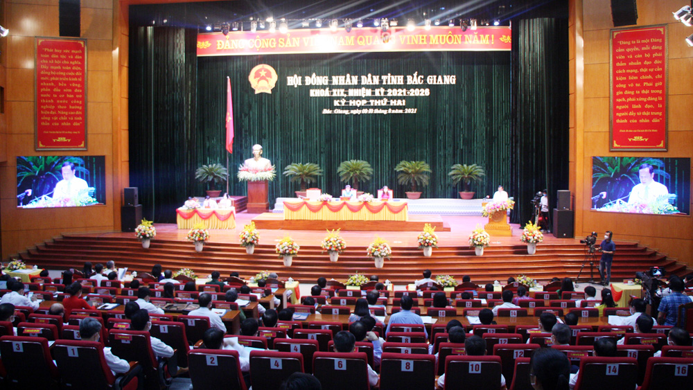 Bắc Giang, HĐND tỉnh, kỳ họp thứ 2, khai mạc, đồng chí Lê Thị Thu Hồng