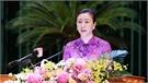 Đồng chí Lê Thị Thu Hồng phát biểu bế mạc kỳ họp thứ 2, HĐND tỉnh khóa XIX