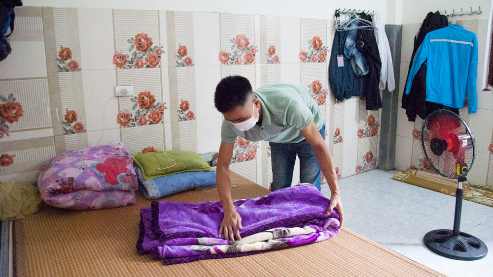 Boarding houses, Bac Giang province, Covid-19 pandemic, epidemic prevention and control, safe boarding house, dormitory for workers, industrial parks