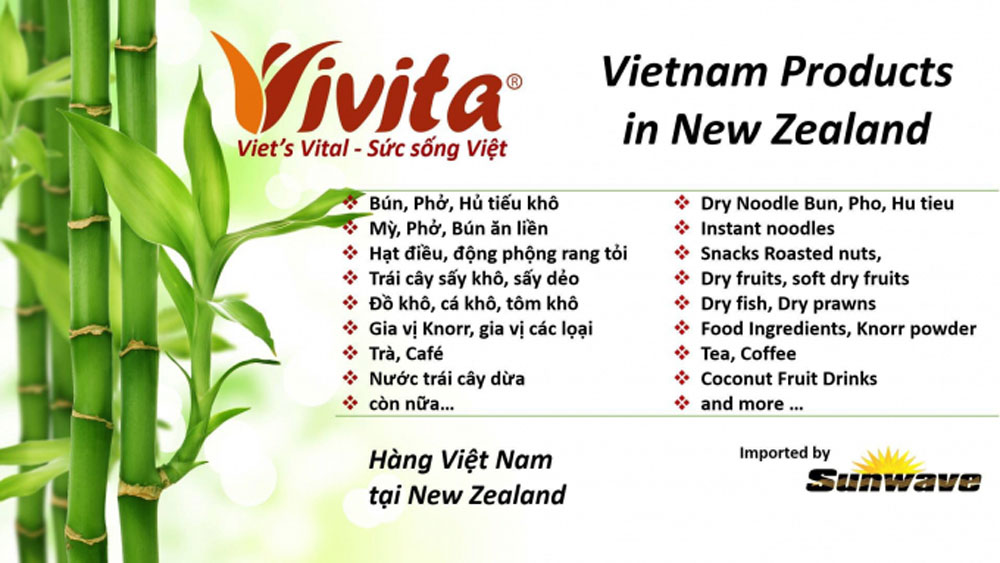 Vietnam's agricultural products, foodstuffs and foods in the New Zealand market