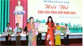 Lục Nam: Thi báo cáo viên giỏi; trao giải cuộc thi tuyên truyền về bầu cử, phòng, chống dịch