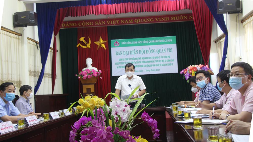 Đồng chí Phan Thế Tuấn phát biểu tại hội nghị trực tuyến.