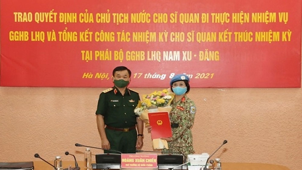Additional Vietnamese female officer assigned to UN peacekeeping mission
