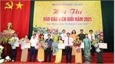 Hội thi báo cáo viên giỏi huyện Lục Ngạn: Thí sinh Mạc Thị Hoan giành giải Nhất