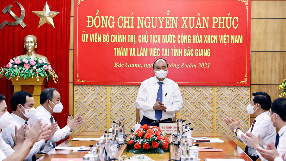 President Nguyen Xuan Phuc pays working visit to Bac Giang province