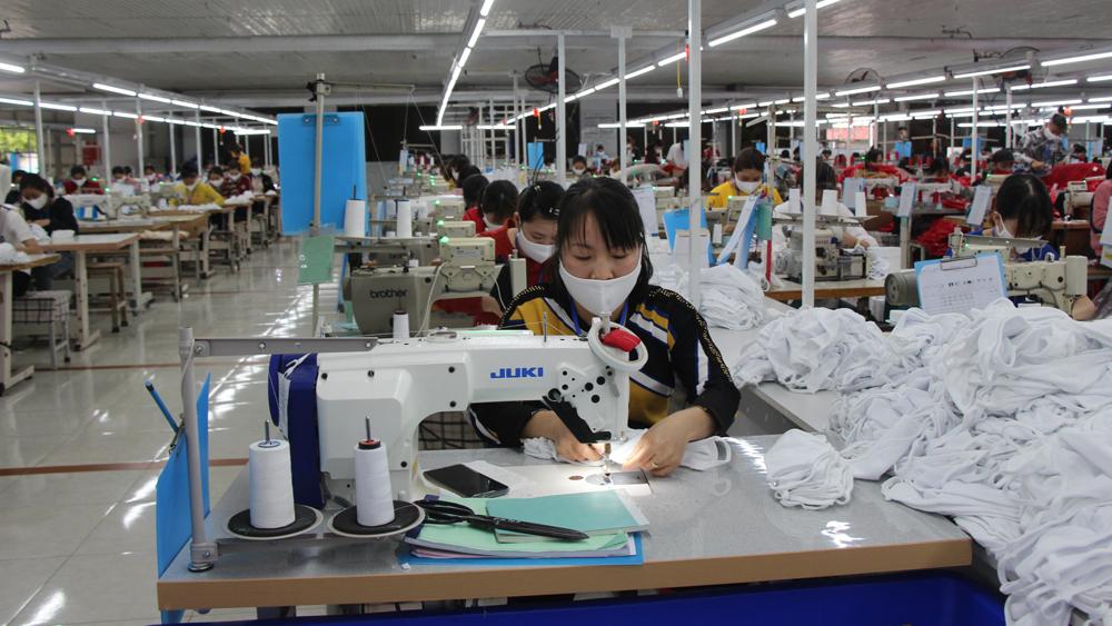 Dây chuyền sản xuất của Công ty cổ phần Tổng Công ty May Bắc Giang BGG.