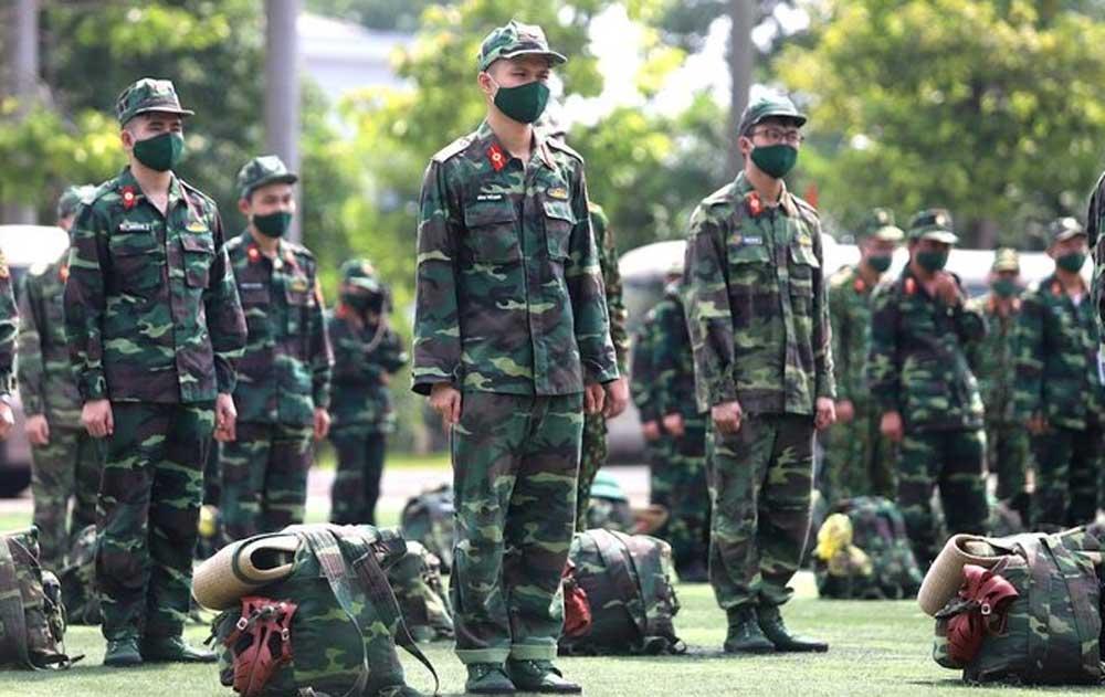 1.000 quân nhân, chuẩn bị , vào Nam chống dịch