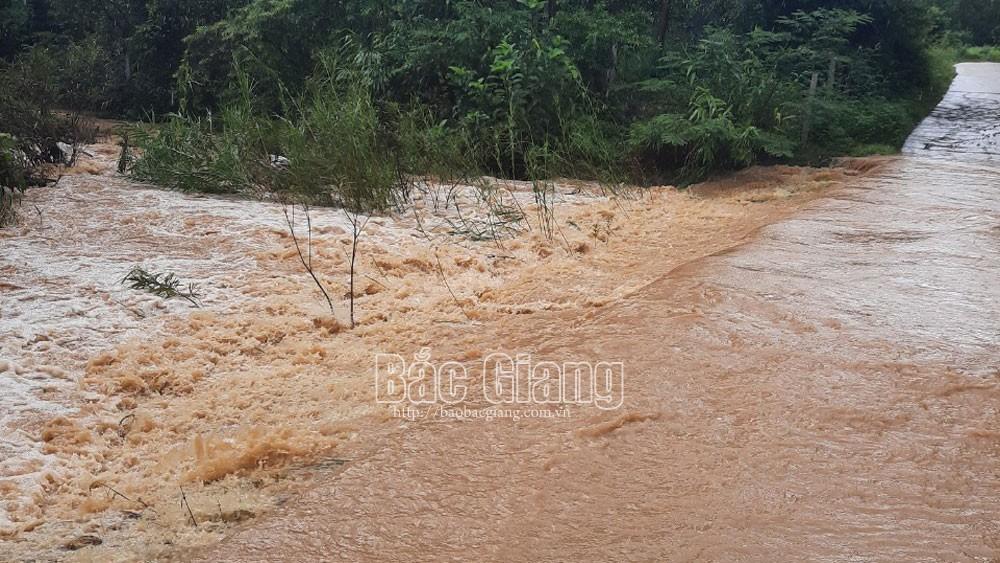 mưa lớn; chia cắt; ngập; Bắc Giang; Sơn Động