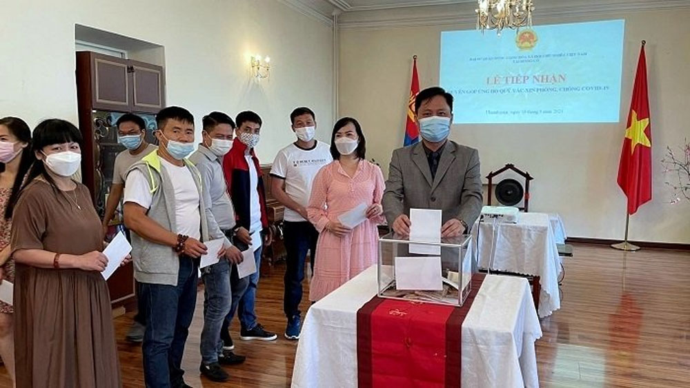 Vietnamese Embassy in Mongolia raises funds to support Covid-19 fight at home