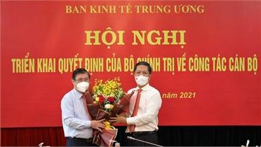 Ông Nguyễn Thành Phong giữ chức Phó trưởng Ban Kinh tế Trung ương