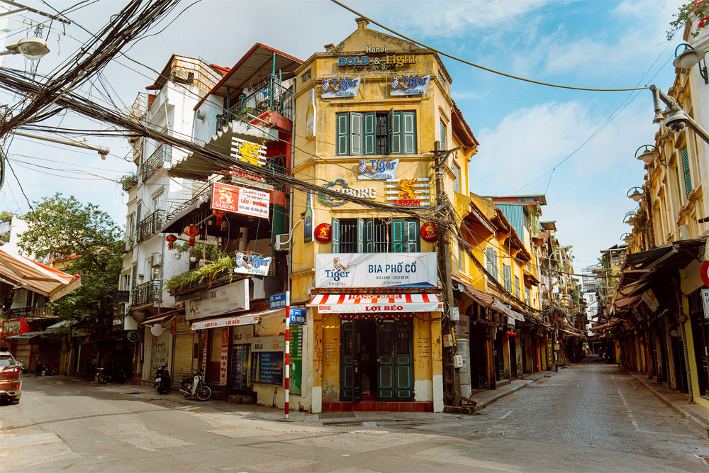 A quiet autumn, Covid-restricted Hanoi, echo of deserted streets, empty shops, closed iconic destinations, Covid-19 pandemic