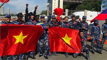 Đội tuyển Hải quân nhân dân Việt Nam có Huy chương Bạc tại Army Games 2021