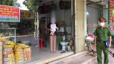 Không khai báo y tế từ vùng dịch trở về Tân Yên, bị phạt 7,5 triệu đồng