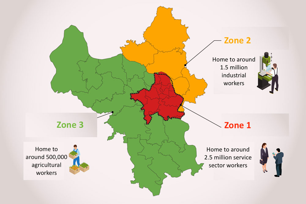 Strict lockdown, 10 Hanoi districts,  high-risk, red zone, Covid-19 contagion, high population density, fourth wave