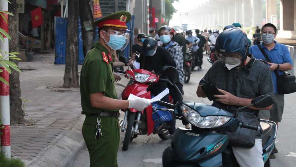 Hanoi, three zones, epidemic prevention and control, Covid-19 pandemic, checkpoints, exit and entry routes