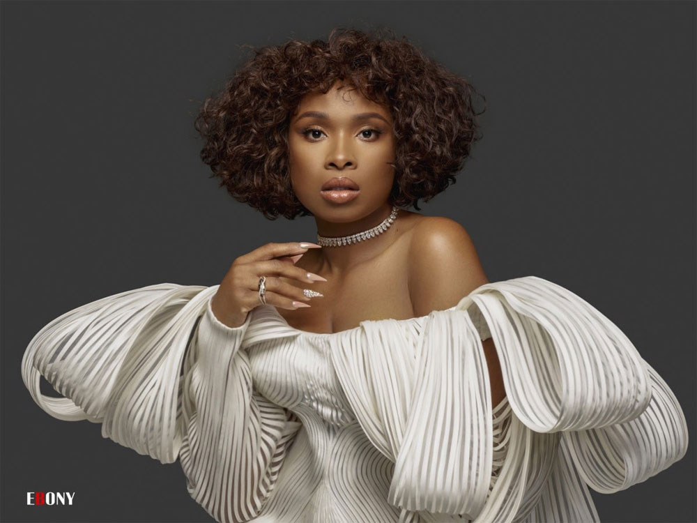 Jennifer Hudson, Cong Tri designer, American singer and actress, Fall-Winter collection, off-the-shoulder minidress, weaving and folding techniques