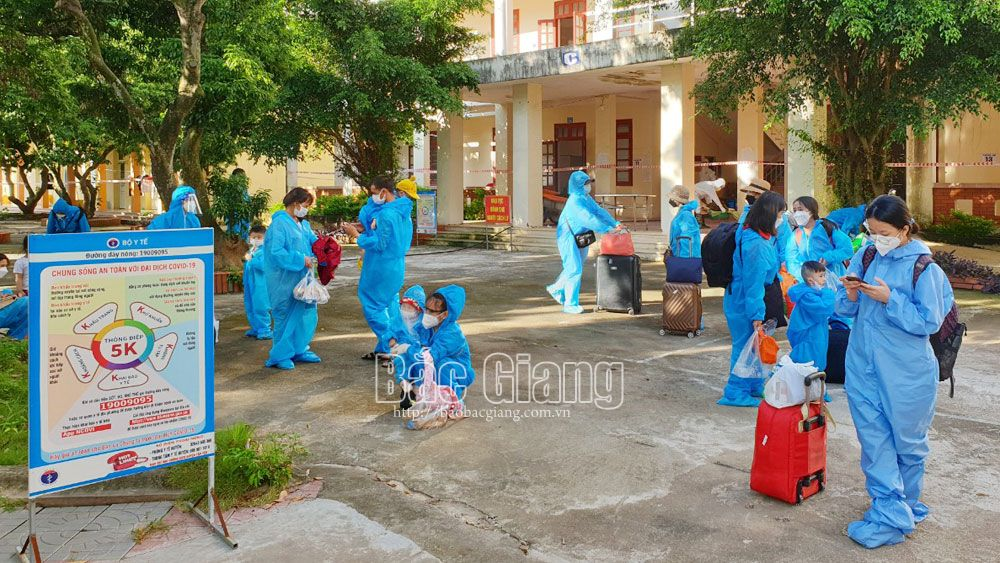 Bac Giang citizens, HCMC, Binh Duong province, Dong Nai province, safely arrive hometown, Bac Giang province, Covid-19 pandemic