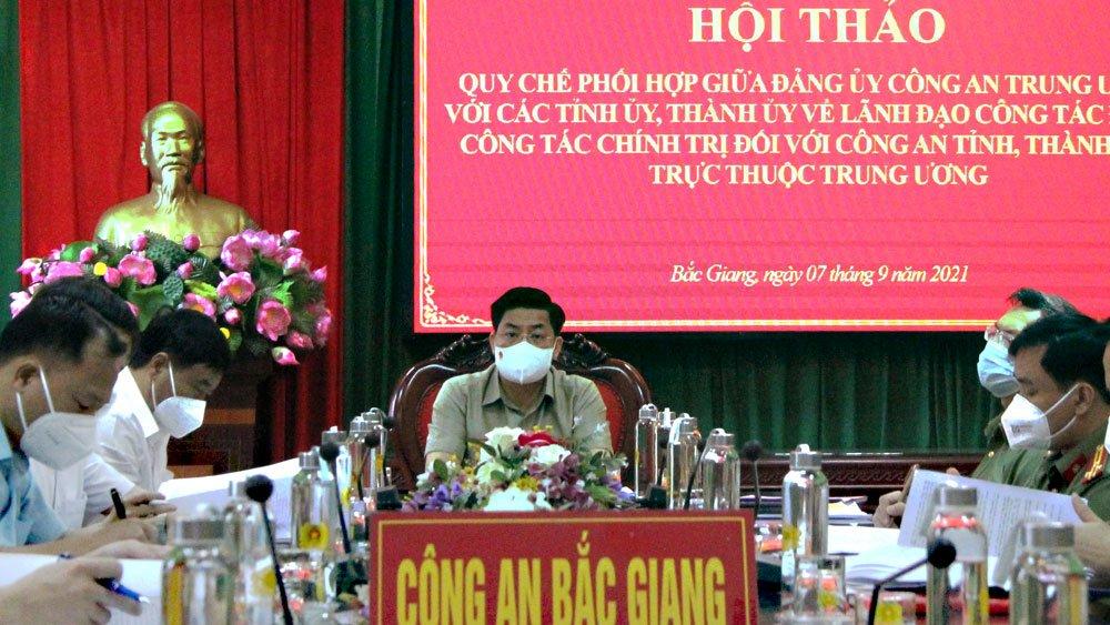 Tăng cường phối hợp giữa Đảng ủy Công an Trung ương với các tỉnh ủy, thành ủy về lãnh đạo công tác đảng, công tác chính trị trong CAND