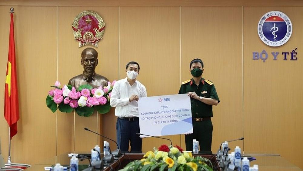 Military Bank, donates, 1 million N95 medical masks, Ministry of Health, Covid-19 pandemic, community transmission