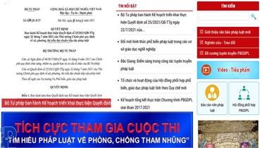 """Thể lệ Cuộc thi trực tuyến """"Tìm hiểu pháp luật về phòng, chống tham nhũng"""" trên địa bàn tỉnh Bắc Giang"""