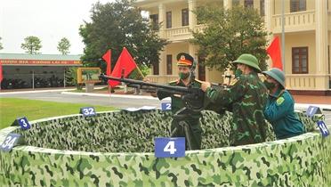 25 đội tham gia hội thi súng máy phòng không 12,7mm