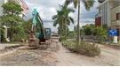 Nhiều điểm hư hỏng trên tuyến đường tránh tại thị trấn Bố Hạ đã được khắc phục
