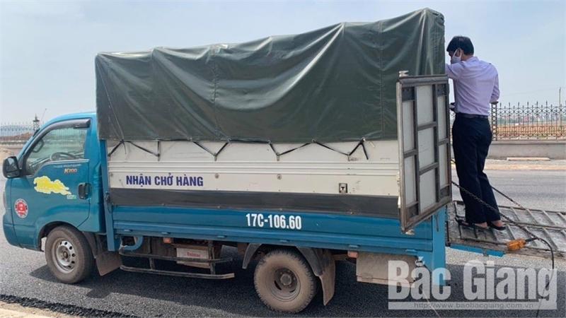 Phát hiện xe ô tô vận chuyển lợn bị dịch tả lợn châu Phi