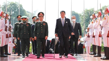 Bộ trưởng Bộ Quốc phòng Nhật Bản thăm chính thức Việt Nam